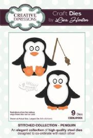 Lisa Horton Craft Dies - Stitched Collection - Penguin - CEDLH1005